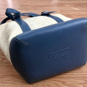 64fddb4cbe Coach Bags - COACH Bucket Handbag Leather   Straw